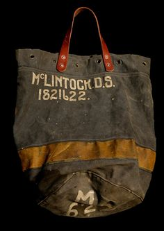 Vintage canvas bag...my grandmother McClintock would have gotten a kick out if it. I love it