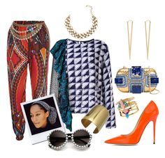 """Afrobeat #411"" by missactive-xtraordinary ❤ liked on Polyvore featuring Jimmy Choo, Maki Oh, Jules Smith and Corto Moltedo"