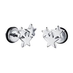HIJONES Womens Stainless Steel Tiny Star Ear Piercing Earrings Hypoallergenic Studs Silver *** Read more reviews of the product by visiting the link on the image. Note:It is Affiliate Link to Amazon.