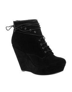 Ariel Suede Lace Detail Ankle Boot, $117
