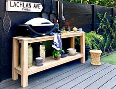 Outdoor Bbq Kitchen, Outdoor Cooking Area, Backyard Kitchen, Summer Kitchen, Backyard Bbq, Outdoor Potting Bench, Diy Outdoor Table, Portable Bbq, Grill Table