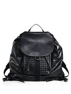 25d66f98e1f1 Bottega Veneta - Leather Drawstring Backpack