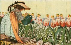 Mary, Mary, Quite Contrary -  by Jessie Willcox Smith
