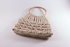 Vintage Handmade1960s-1970's Ivory Knitted by LivingAVntgLife