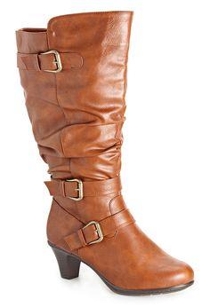ea4404b316d8 Plus Size Carissa Tall Buckle Detail Boot