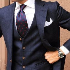 British Style — tieoftheday: Morning Tie by Mens Fashion Suits, Mens Suits, Groom Suits, Groom Attire, Mens Attire, 3 Piece Suits, Dapper Men, Sharp Dressed Man, Suit And Tie