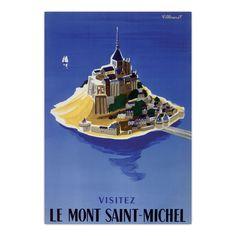 Toile Mont St Michel 45x65cm - St Michel - Toiles décoratives - Affiches et déco murale - Salon et salle à manger - Décoration d'intérieur - Alinéa