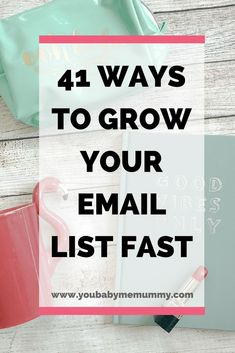 Need to grow your list, but stumped as to how? Here are 41 ways to grow your email list fast #emailtips #emailmarketing