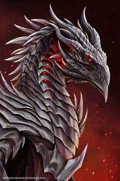 Dragon demon by TatianaMakeeva on DeviantArt - - Art - Best Tattoo Share Mythical Creatures Art, Mythological Creatures, Magical Creatures, Dark Fantasy Art, Fantasy Artwork, Dragon Medieval, Dragon Rpg, Red Dragon, Cartoon Dragon