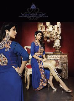 Shilpa Shetty Narrow Pants Style Salwar Kameez in Cream Color - UBTI076D01A7V | Indian Trendz