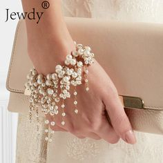 Pearl Fashion Multilayer Beads Charm Bracelet for Women Vintage Wedding  Party Bracelets  amp  Bangle Femme 9395b05bcc45