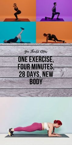 One Exercise, Four Minutes, 28 Days, New Body - Emilia Jr. Health And Fitness Apps, Health And Wellness Coach, Wellness Fitness, Fitness Diet, Muscle Fitness, Health And Beauty Tips, Health Tips, Health Benefits, Glowing Skin Diet