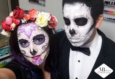 Halloween makeup- Sugar skull face painting @bartov0912 Sugar Skull Face Paint, Halloween Makeup Sugar Skull, Painting, Painting Art, Paintings, Painted Canvas, Drawings
