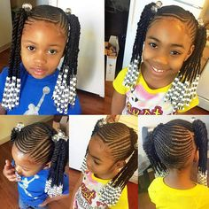 87 Cornrow Hairstyles for Black Women Ideas in Next time you're stuck trying to think up new ideas for your natural hair, try one of these stunning looks. Whether you have short hair, long braids, ., Cornrow Hairstyles for Black Women Lil Girl Hairstyles, Natural Hairstyles For Kids, Kids Braided Hairstyles, American Hairstyles, African Braids Hairstyles, My Hairstyle, Black Women Hairstyles, Natural Hair Styles, Toddler Hairstyles