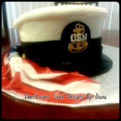 USN dress hat. By: Dees'Licious Cakes by Dana
