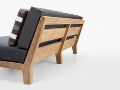 simple wood frame sofa