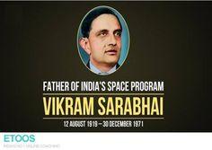 #EtoosIndia celebrates the birth anniversary of Vikram Sarabhai.