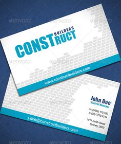 187 best construction business cards images on pinterest construction business card graphicriver this design is perfect for businesses in the construction industry reheart Choice Image