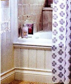 Bathroom Makeover–How to Add Decorative Molding to a Bathtub - In My Own Style