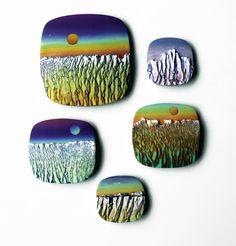 Bhttps://flic.kr/p/Dc7eZw | Paisajes agrestes Beautiful polymer clay work by DeLaCruz