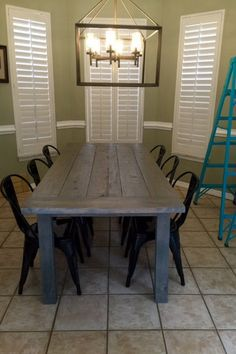 7ft Simple-No Beams-Farmhouse Table by DanowitDesigns on Etsy