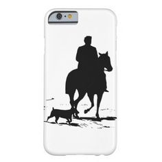 Cowboy On His Horse With His Dog iPhone Case Barely There iPhone 6 Case