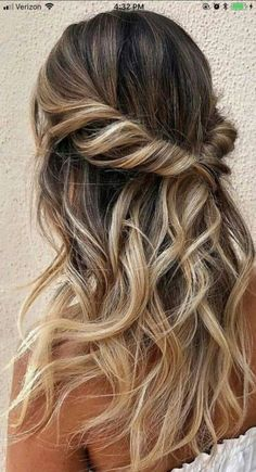 25 glamorous wedding hair half up half down hairstyles - hairstyles - . - 25 glamorous wedding hair half up half down hairstyles … – wedding ideas – - Wedding Hairstyles Half Up Half Down, Half Up Half Down Hair Prom, Hair Half Updo, Hair Down With Braid, Half Up Half Down Hair Tutorial, Half Up Curls, Half Ponytail, Bouffant Hair, Pinterest Hair