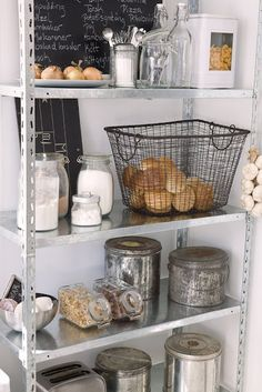 kitchen storage ideas, display certain items that have a cute farmhouse style look to them