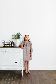 Plaid, ruffles, and pockets! This adorable dress is perfect for school, winter parties, or special occasions. Plaid Dress, Navy Dress, Blush Dresses, Cute Dresses, Sparkle Skirt, Unicorn Dress, Family Picture Outfits, Baby Bonnets