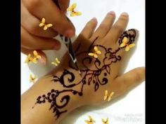 Hoow to make new simple henna design | simplr mehndi designs | henna on ...