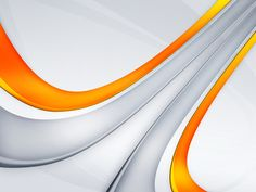 Amazing White Background with The Addition of a Curved Line Orange and Grey Colorful HD Wallpaper