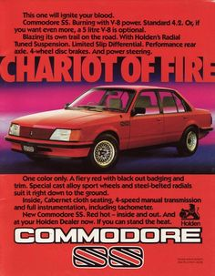 1982 SS Commodore.