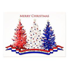 Christmas, Patriotic ,Airman, Red, White and Blue Decorated USA Trees card. Personalize any greeting card for no additional cost! Cards are shipped the Next Business Day. Blue Christmas, Best Christmas Gifts, Christmas Greetings, Christmas Themes, Holiday Cards, Christmas Cards, Christmas Decorations, Merry Chistmas, Tree Decorations
