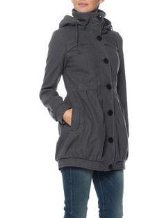 #coat #gray #simple #casual