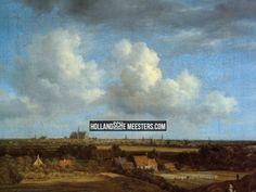 Art wallpaper / behang | Gezicht op Haarlem vanaf de duinen | Jacob Isaacksz. van Ruisdael | Canvas doeken en Art-wall behang van de schilderijen van Nederlands grootste kunstenaars, zoals Rembrandt, Vermeer en van Gogh: HollandscheMeesters.com