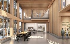 Oregon Becomes the First State to Legalize Mass Timber High Rises,Framework. Image Courtesy of LEVER Architecture Timber Architecture, Timber Buildings, Architecture Design, Wooden Skyscraper, Timber Structure, Interior Rendering, Interior Design, Planning Permission, High Rise Building