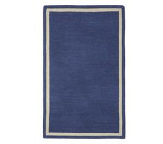Capel Chenille Rug 8' x 10' Rectangle, Navy with Khaki