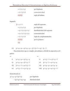 demostraciones en algebras booleanas