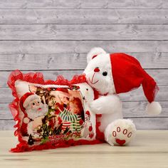 For the celebration of Christmas that are most special for your little one between the age group of years is a cuddly and furry white teddy wearing a red Santa cap. Christmas Is Coming, Christmas 2019, Merry Christmas, Christmas Gifts, Xmas, Online Gift Store, Pillows Online, Childrens Gifts, Christmas Stockings
