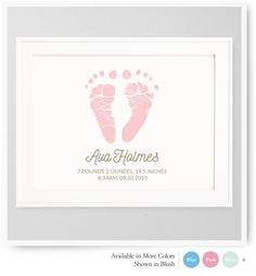 Personalized baby gifts best baby shower gifts baby ultrasound footprints baby footprints nursery wall decor nursery art custom colors fonts negle Images