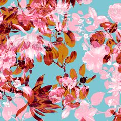 Perfect for spring nails Textiles, Textile Prints, Textile Patterns, Textile Design, Floral Prints, Floral Patterns, Mandala Pattern, Pattern Art, Pattern Design