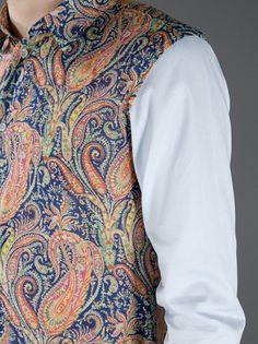 CARVEN - contrast paisley print shirt 10