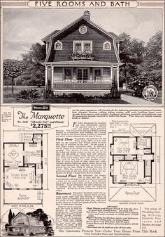 The Marquette  1923 SEARS ROEBUCK MODERN HOMES - I bet you didn't know that at one time you could order a house from Sears