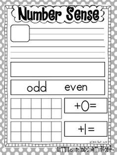 Number Sense Classroom Resources {freebie} - Little Minds at Work