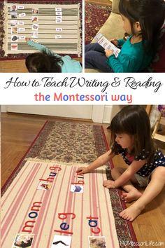 How to Teach Writing & Reading the Montessori Way