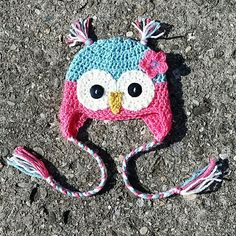 Owl Hat  www.facebook.com/offthehookcraftiness