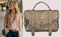 This is 40: Debbie's (Leslie Mann's) Proenza Shouler PS1 Medium Leather Crossbody Bag in Smoke