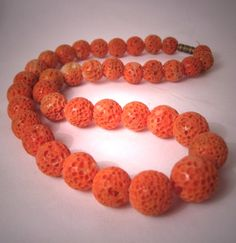 coral jewelry from italy | Antique Coral Necklace Vintage Art Deco Italian Coral