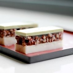 Heavenly combination of red-bean, matcha and coconut - a dessert you'll love without the guilt!