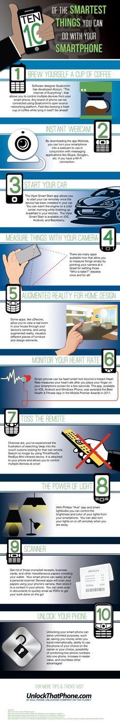 Deset nejchytřejších věcí, které můžete dělat se svým smartphonem